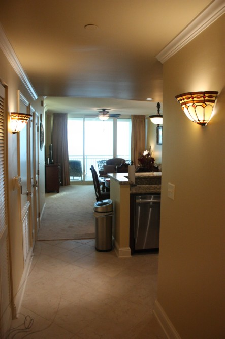 Sconce Lighting in Hallway