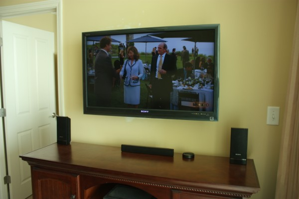 "Wall Mounted 40"" Sony Bravia HDTV with Internet Video and Widgets"
